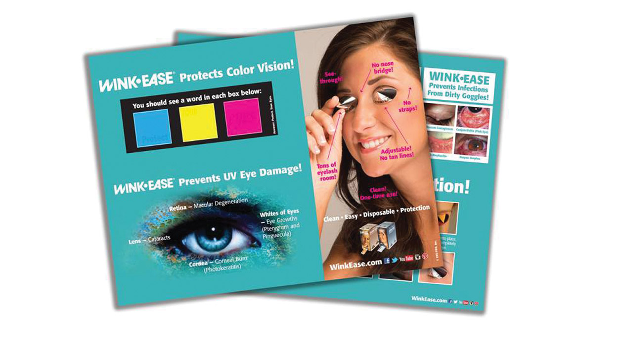 WINK-EASE offers NEWLY UPDATED FREE Counter Mat to Promote Eye Protection!