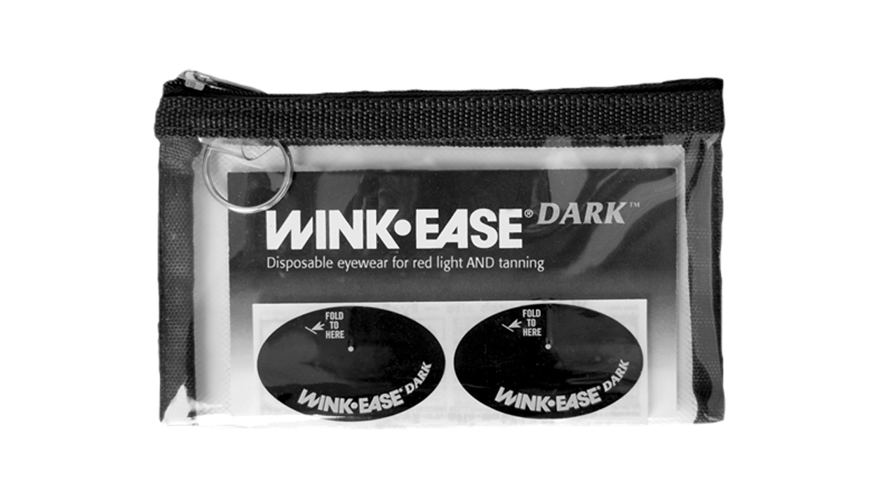 WINK-EASE Dark Provides Protection for Red Light and Tanning!
